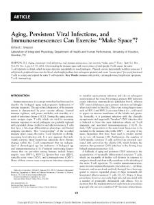 Aging, Persistent Viral Infections, and Immunosenescence: Can Exercise Make Space?
