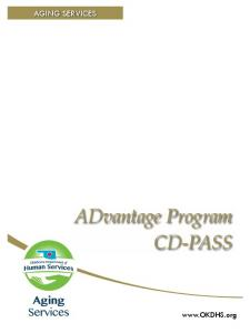 AGING ServIceS. Self-Guided Orientation. ADvantage Program