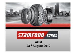 AGM 23 rd August 2012
