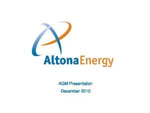 AGM Presentation December 2010