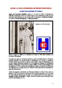 AGNES. LA NOVIA ENFERMERA DE ERNEST HEMINGWAY