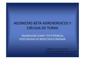 AGONISTAS BETA ADRENERGICOS Y CIRUGIA DE TORAX