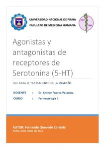 Agonistas y antagonistas de receptores de Serotonina (5-HT)