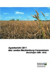 Agrarbericht 2011 des Landes Mecklenburg-Vorpommern (Berichtsjahr )
