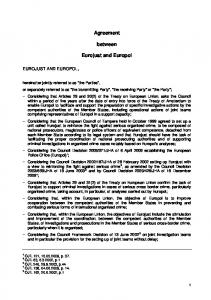 Agreement. between. Eurojust and Europol