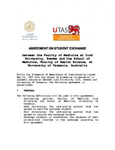 AGREEMENT ON STUDENT EXCHANGE