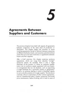 Agreements Between Suppliers and Customers