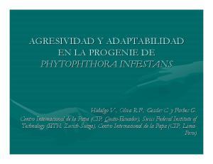 AGRESIVIDAD Y ADAPTABILIDAD EN LA PROGENIE DE PHYTOPHTHORA INFESTANS