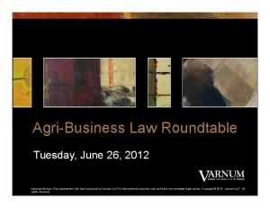 Agri-Business Law Roundtable