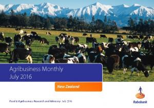 Agribusiness Monthly July New Zealand