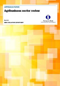 Agribusiness sector review