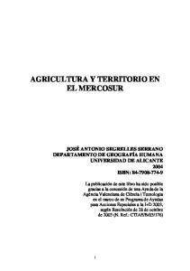 AGRICULTURA Y TERRITORIO EN EL MERCOSUR
