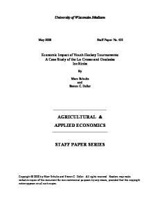 AGRICULTURAL & APPLIED ECONOMICS
