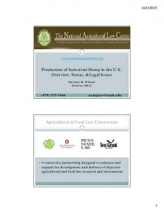 Agricultural & Food Law Consortium