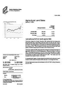 Agricultural Land Sales