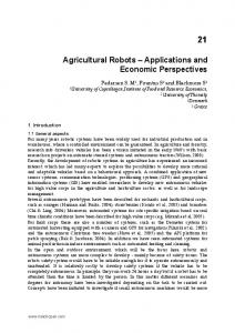 Agricultural Robots Applications and Economic Perspectives