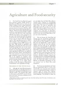 Agriculture and Food-security