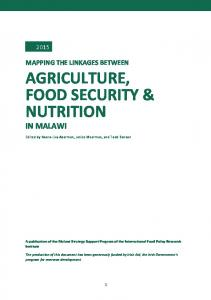 AGRICULTURE, FOOD SECURITY & NUTRITION