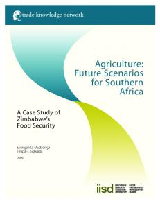 Agriculture: Future Scenarios for Southern Africa