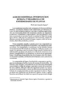 AGROECOSISTEMAS: INTERVENCION HUMANA Y DESARROLLO DE ENFERMEDADES DE PLANTAS