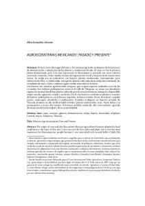AGROECOSISTEMAS MEXICANOS 1 : PASADO Y PRESENTE 2
