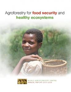 Agroforestry for food security and healthy ecosystems