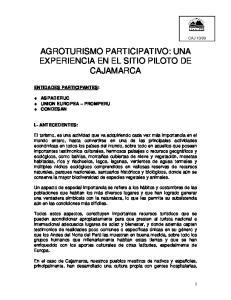 AGROTURISMO PARTICIPATIVO: UNA EXPERIENCIA EN EL SITIO PILOTO DE CAJAMARCA