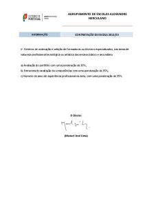 AGRUPAMENTO DE ESCOLAS ALEXANDRE HERCULANO