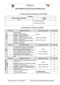 AGRUPAMENTO DE ESCOLAS DE VENDAS NOVAS
