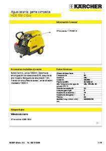 Agua caliente, gama compacta HDS 558 C Eco