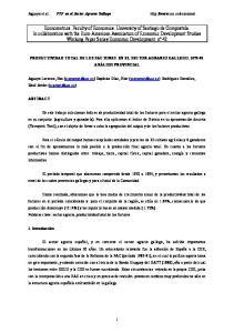 Aguayo et al. PTF en el Sector Agrario Gallego