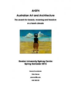 AH374 Australian Art and Architecture