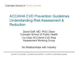AHA CVD Prevention Guidelines Understanding Risk Assessment & Reduction