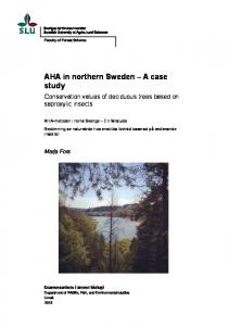 AHA in northern Sweden A case study