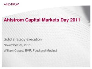 Ahlstrom Capital Markets Day 2011