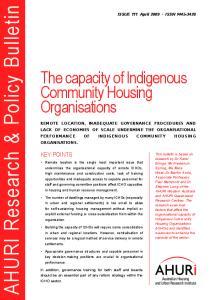 AHURI Research & Policy Bulletin