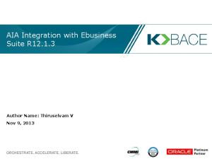 AIA Integration with Ebusiness Suite R12.1.3