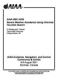 AIAA Severe Weather Avoidance Using Informed Heuristic Search