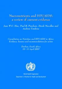 AIDS: a review of current evidence