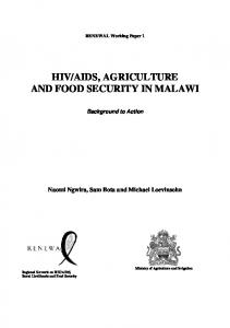 AIDS, AGRICULTURE AND FOOD SECURITY IN MALAWI