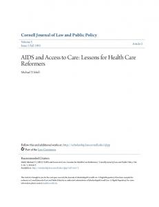 AIDS and Access to Care: Lessons for Health Care Reformers