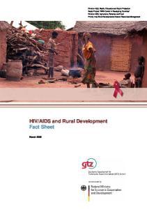 AIDS and Rural Development Fact Sheet