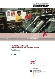 AIDS and TEVT Technical Education and Vocational Training