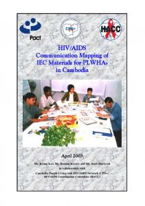 AIDS Communication Mapping of IEC Materials for PLWHAs in Cambodia