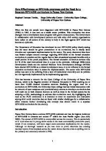 AIDS curriculum in Papua New Guinea