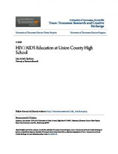 AIDS Education at Union County High School