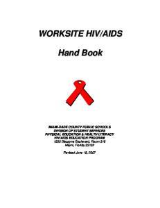 AIDS EDUCATION PROGRAM 1500 Biscayne