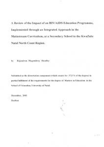 AIDS Education Programme, Implemented through an Integrated Approach in the