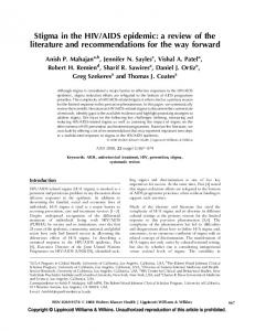 AIDS epidemic: a review of the literature and recommendations for the way forward