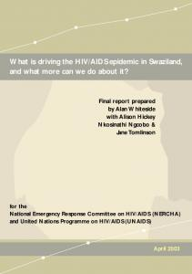 AIDS epidemic in Swaziland, and what more can we do about it?
